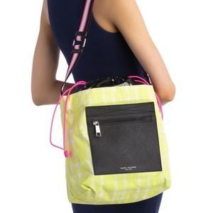 Marc Jacobs Yellow Plaid Ringer Crossbody Bag